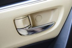 Car door opening handle. A Car door opening handle stock image