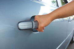 Car Door Opening Stock Photography