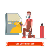 Car door paint job Royalty Free Stock Image