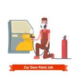 Car door paint job Royalty Free Stock Image
