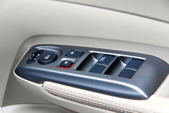 Car door panel control Stock Photos