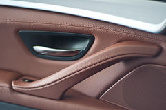 The car door panels. Panel doors are made with genuine leather royalty free stock photo