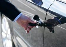 Car door unlock by key Stock Image