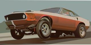 car drag vintage ελεύθερη απεικόνιση δικαιώματος