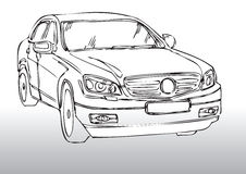 Car drawing. Hand draw illustration of a car Royalty Free Stock Image