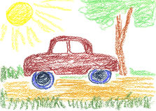 Car drawing Royalty Free Stock Image