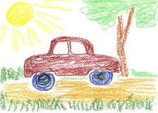 Car drawing royalty free illustration