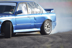 Car drift as extreme and fun sport Stock Image