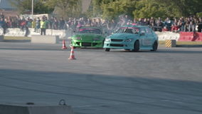 Car drift competition stock footage
