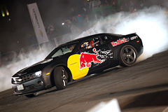 Car drifting royalty free stock image
