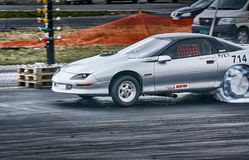 Car drifting competition Royalty Free Stock Photography