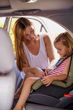 Car drive with children Royalty Free Stock Photos