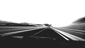 Car drive fast by a curvy road on Croatia stock footage