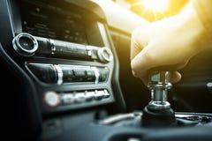 Car Drive Manual Shifting Royalty Free Stock Photography