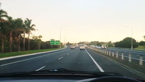 Car drive during rush hour to Auckland New Zealand stock video