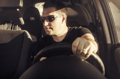 Car driver. Royalty Free Stock Photography