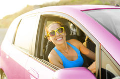 Car driver happy Royalty Free Stock Images