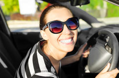 Car driver happy Royalty Free Stock Photos
