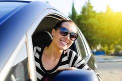 Car driver happy Stock Photo