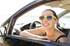 Car driver happy Royalty Free Stock Photo