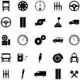 Car driver icon set. The car driver icon set Stock Photo