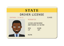 Car driver licence card. Royalty Free Stock Images