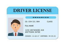 Car driver licence card. Royalty Free Stock Image