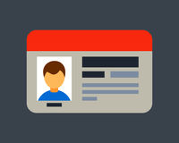 Car driver license identification with photo isolated vehicle identity and driving national standard flat information Royalty Free Stock Photography