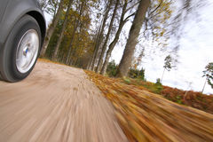 Car driving on country road. royalty free stock photo