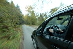 Car driving on country road Royalty Free Stock Photography