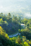 Car driving on the curve road Doi inthanon Royalty Free Stock Photo