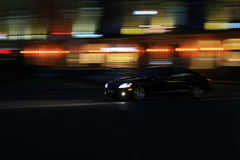 Car driving fast Royalty Free Stock Photography