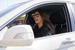 Car driving and fun Royalty Free Stock Image
