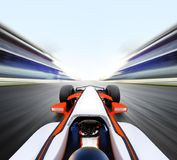 Car driving on high speed road royalty free stock image