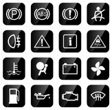 Car driving icons Royalty Free Stock Photo