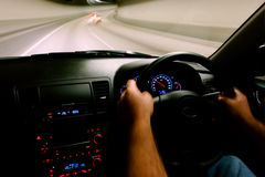 car driving inside speed view Στοκ εικόνες με δικαίωμα ελεύθερης χρήσης