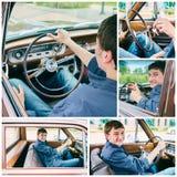 car driving man Στοκ φωτογραφίες με δικαίωμα ελεύθερης χρήσης
