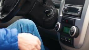 car driving man απόθεμα βίντεο