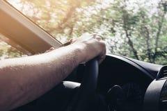 car driving man Στοκ Φωτογραφίες