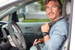 car driving man Στοκ Φωτογραφία