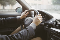 Car driving Royalty Free Stock Photos