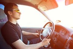 car driving man young Στοκ Εικόνες