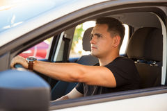 car driving man young Στοκ εικόνα με δικαίωμα ελεύθερης χρήσης