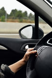 car driving man young Στοκ εικόνες με δικαίωμα ελεύθερης χρήσης