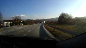 In the car driving stock video footage