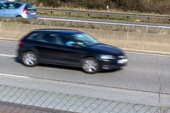 A car driving on a motorway. At high speed royalty free stock photos