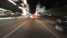 Car driving point of view timelapse stock video