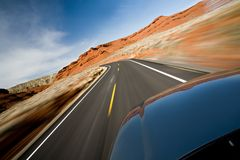 Car driving on road Royalty Free Stock Photography