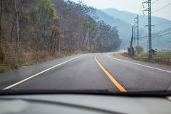 Car driving on the road Royalty Free Stock Photo
