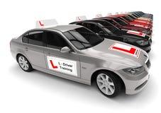 Car Driving School fleet concept Stock Image